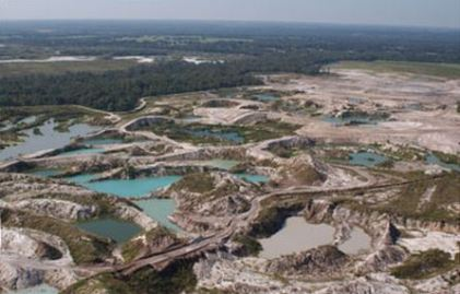 Florida's strip mining operation solves one problem adn creates another.
